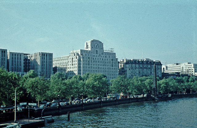 Shell-Mex House and Cleopatra's Needle - 1959