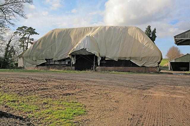 Wrapped barn at Firgo Farm