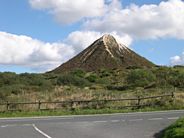 Conical Waste Tip on Trelavour Down