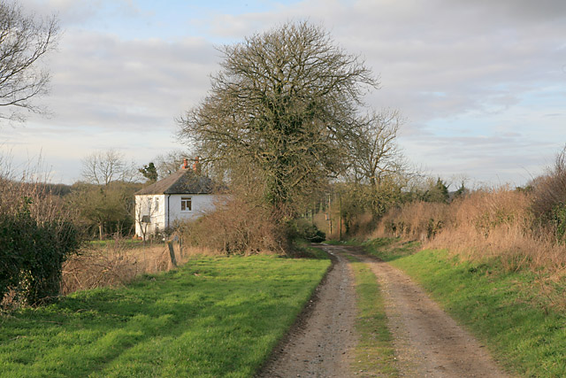 Byway passing Larkwhistle Farm