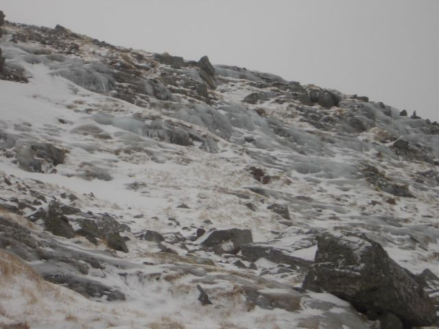 Icy hillside