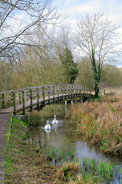 Footbridge over River Test