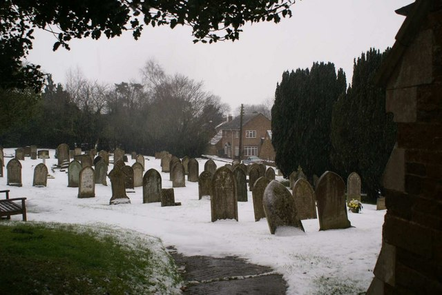 The Churchyard in winter