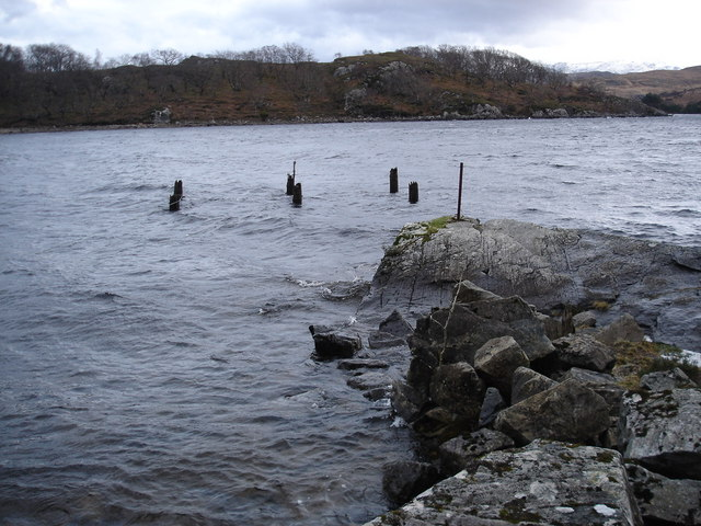 Remains of a jetty at Tollie Bay