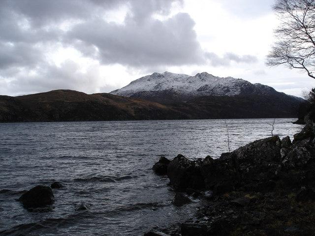 Across Loch Maree to Beinn Airigh Charr
