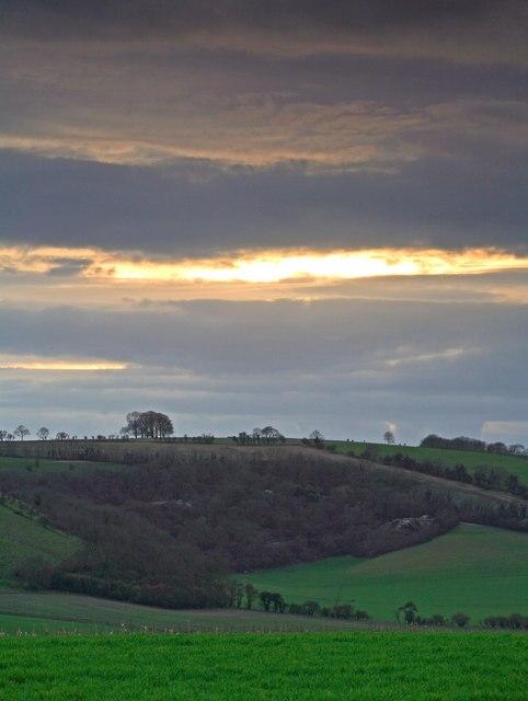 Sunset Elcombe Farm