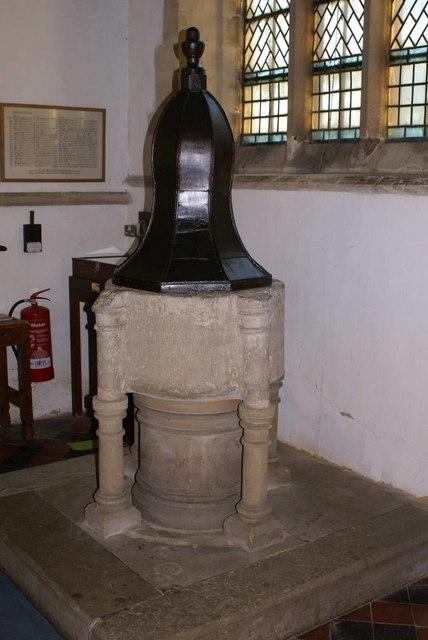 St Giles Church font Medbourne