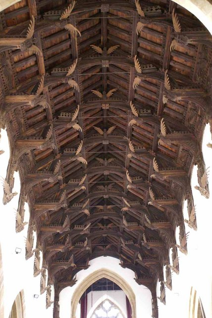 The spectacular Angel roof of St Wendreda's