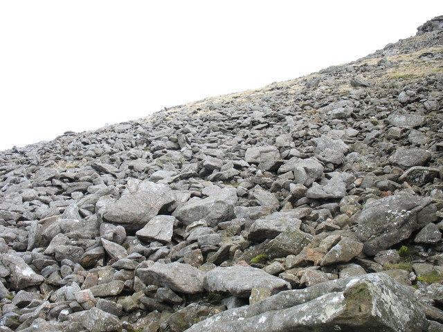 Boulder-field on the upper slopes of Gyrn Goch
