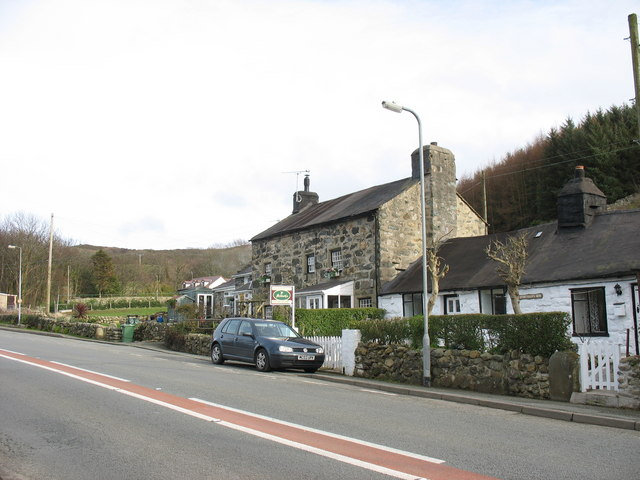 Character house and cottages in the hamlet of Gyrn Goch