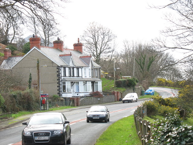Late Victorian or Edwardian terrace on the western outskirts of Gyrn Goch