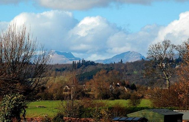 Netherton Farm and Lochearnhead hills