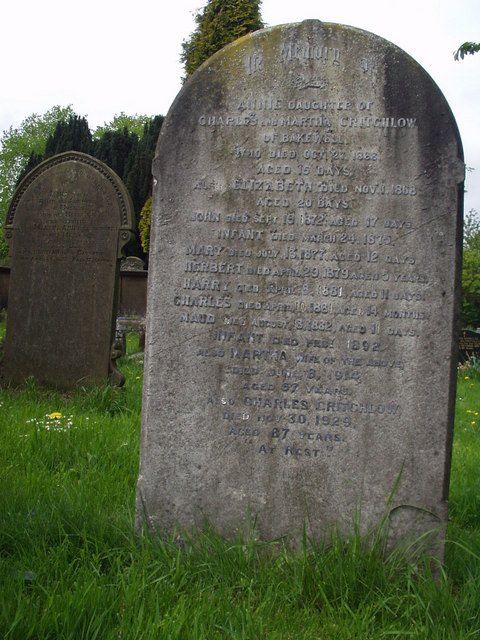 Critchlow Family Grave