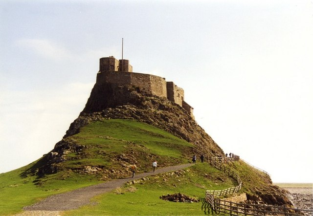 The ascent to Lindisfarne Castle