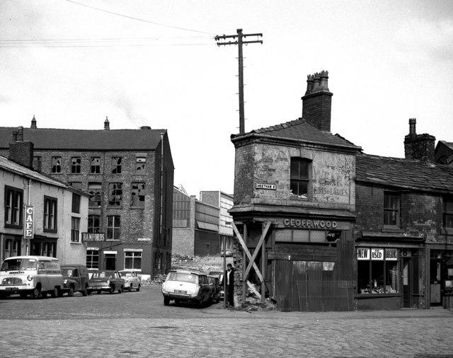 Geoff  Wood's shop, Cheetham Street, Rochdale, Lancashire