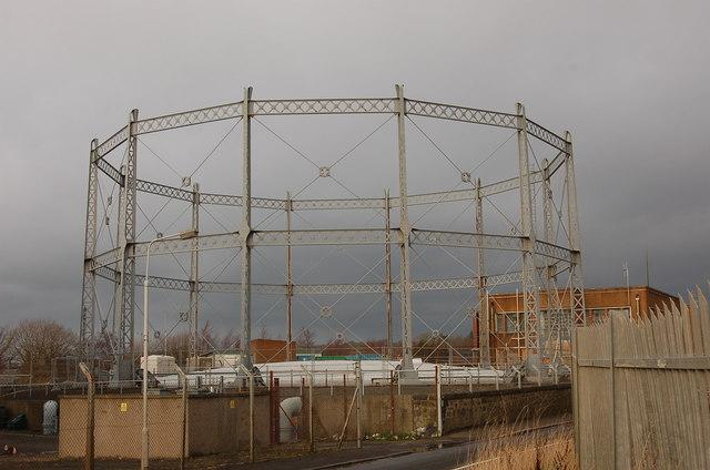 Gasholder frame