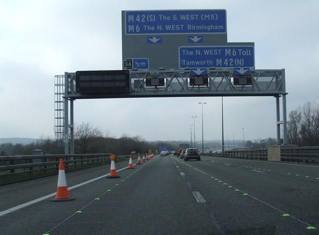 M6 / M6 toll Gantry
