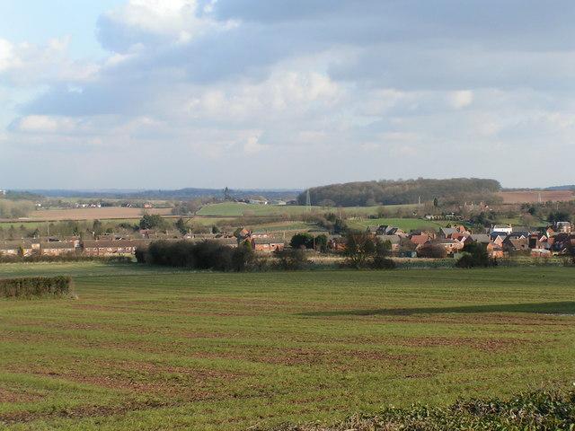 Uphampton, looking towards Ombersley
