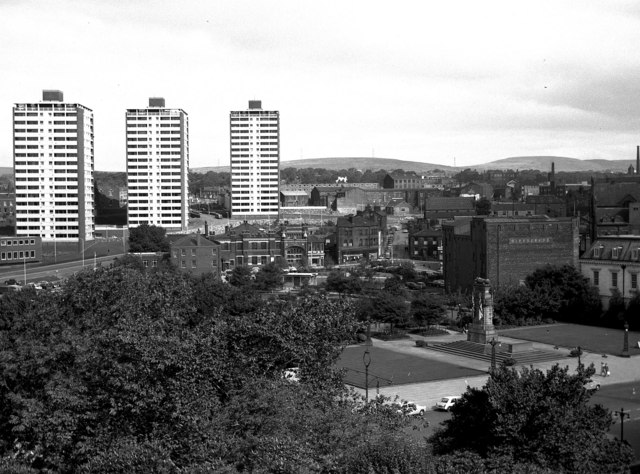 The Cenotaph and Memorial Gardens, Rochdale, Lancashire