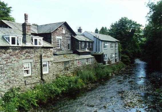 River Rothay flowing through Grasmere Village
