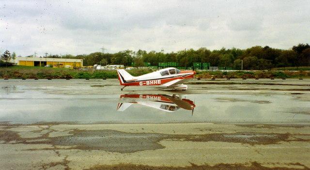 Light aircraft at Brooklands, 1993