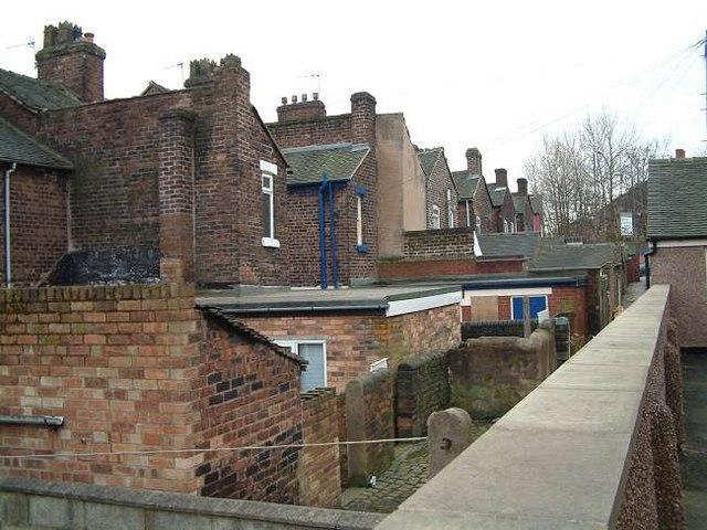 Terrace Housing - back yards, Eastwood, Hanley