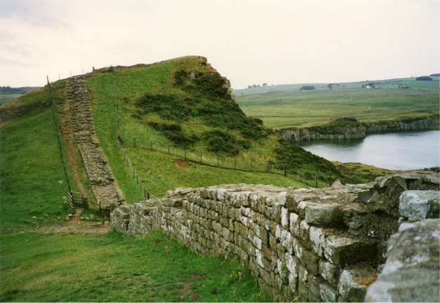 Section of Hadrian's Wall at Cawfields