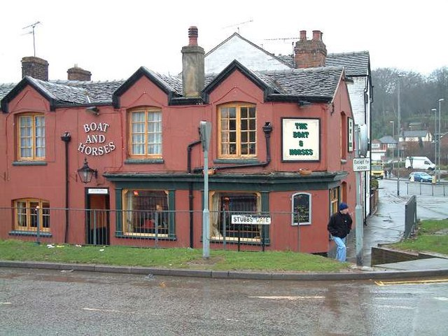 Boat and Horses pub in Stubbs Lane, Newcastle