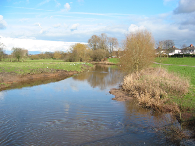 River Weaver on the north of Nantwich