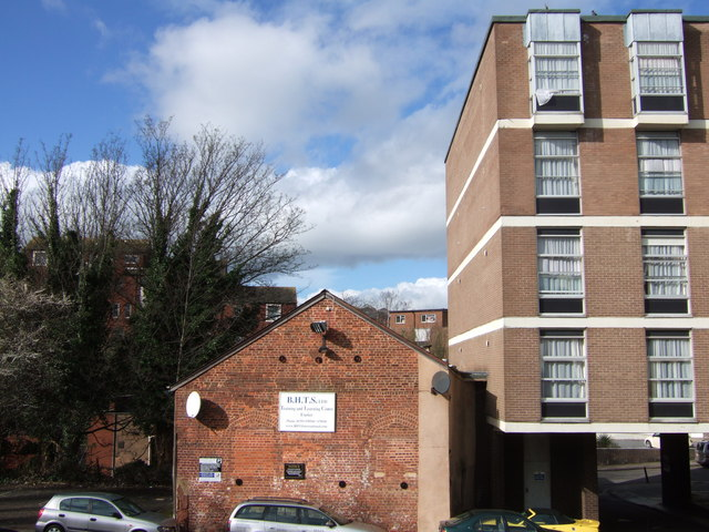 Buildings on Coombe Street, Exeter