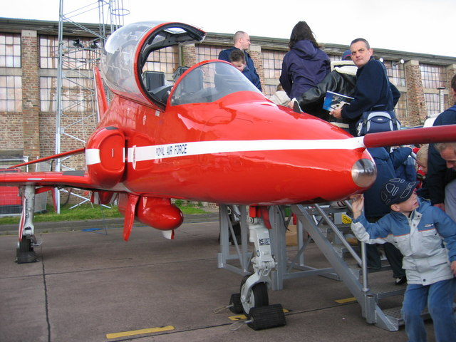 Red Arrow at Leuchars Airfield