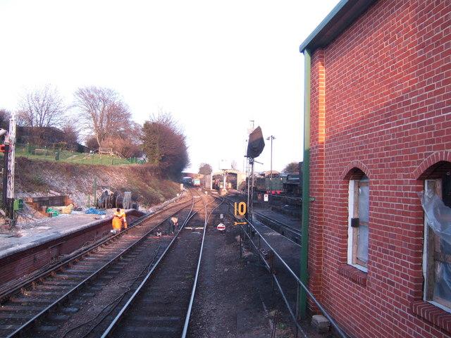 Sidings at Ropley station