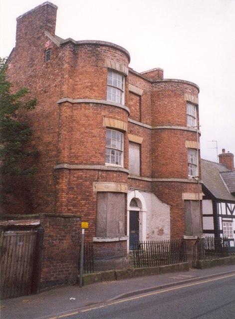 House with bow windows, High Street, Wem