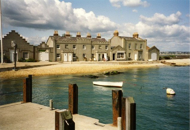 Cottages on Brownsea Island, Poole Harbour
