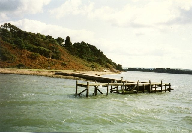 Pier on west coast of Brownsea Island