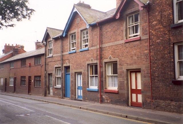 Gabled houses, Mill Street, Wem