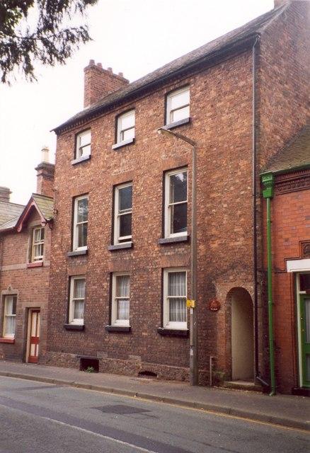 Three-storey house, Mill Street, Wem