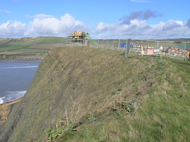 The Clavell Tower - being dismantled
