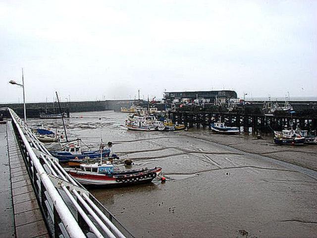 Bridlington Harbour at Low Tide