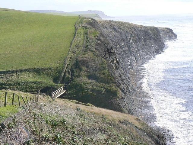 Footbridge on Dorset Coast Path above Kimmeridge Ledges