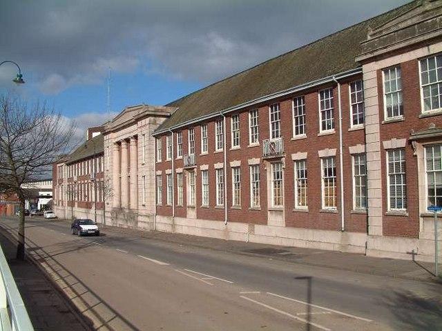 Staffordshire University frontage, Stoke