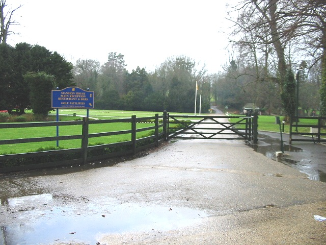 Gateway to the golf course