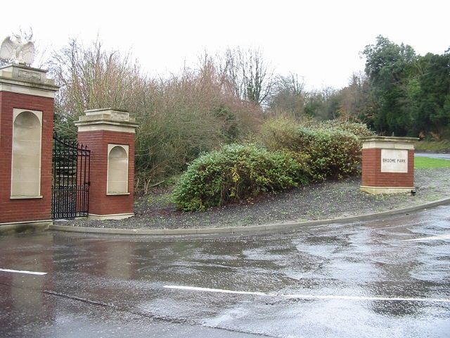 Entrance to Broome Park golf course