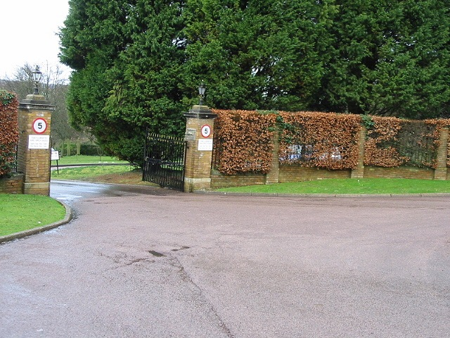 Entrance to Barham Crematorium