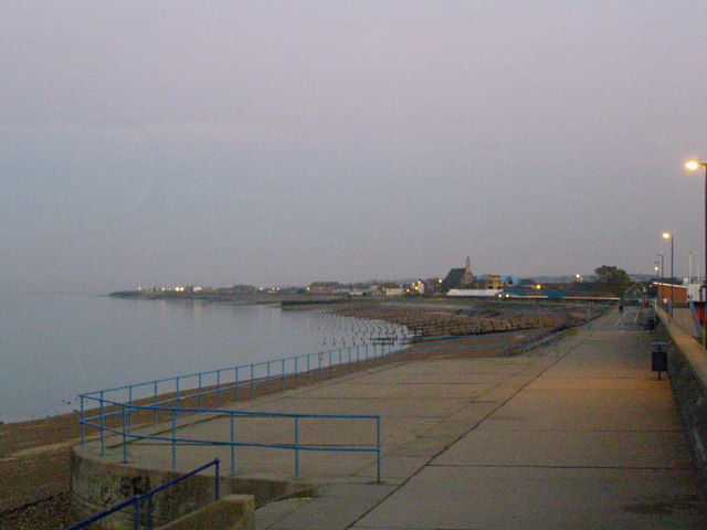 Sheerness beach looking toward Jacob's Bank