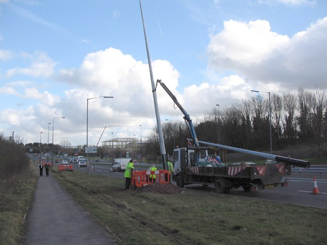 Lamp post replacement on the A4174