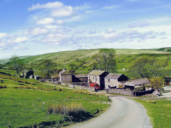 The small hamlet of Swineside in Coverdale