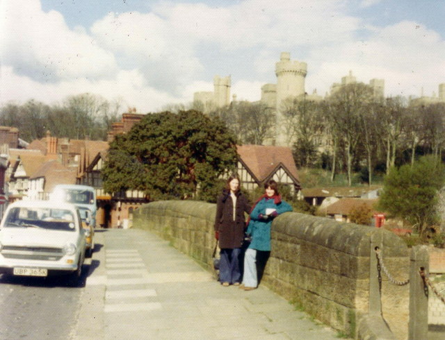 Arundel Bridge, castle in background, 1975