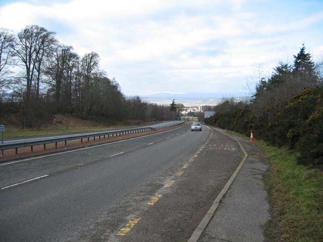 Pedestrian crossing point on the A9