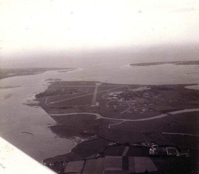 Thorney Island airfield from the air, May 1976